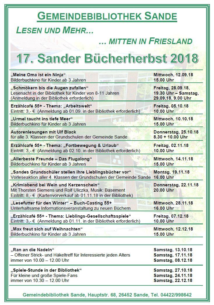 Bibliothek Sande | Blog der Gemeindebibliothek Sande, Hauptstr. 68 ...