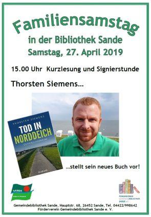 Familiensamstag Lesung mit Thorsten Siemens